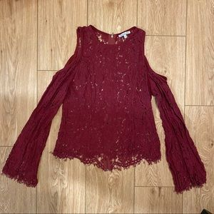 Charlotte Russe Red Blouse